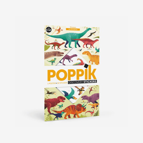 Poppik Sticker Poster Discovery - Dinosaurs