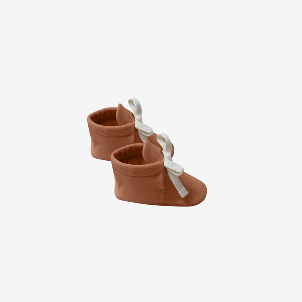 Organic Jersey Baby Boots - Rust