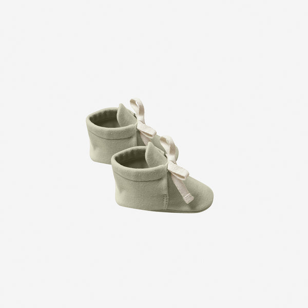 Organic Brushed Jersey Baby Boots - Sage