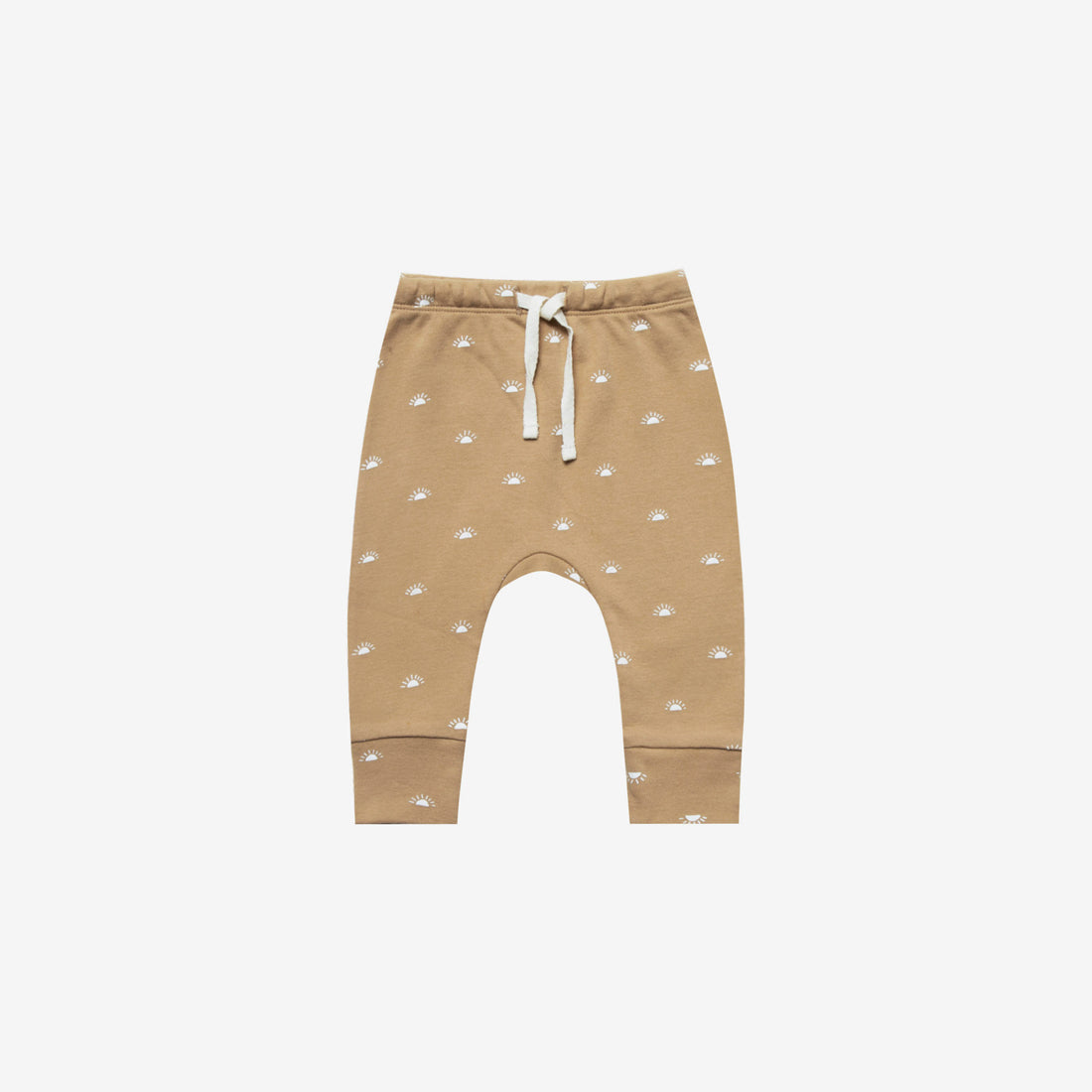 Organic Brushed Jersey Drawstring Pant - Honey Sunrise