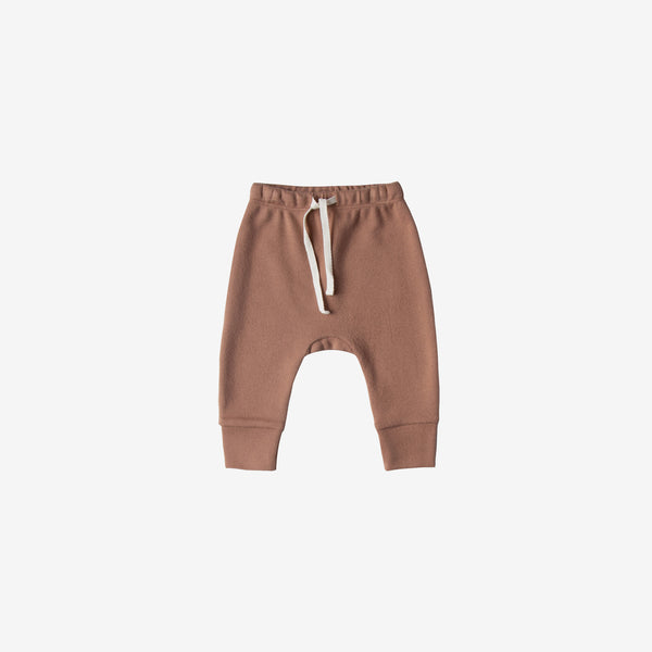Organic Brushed Jersey Drawstring Pant - Clay