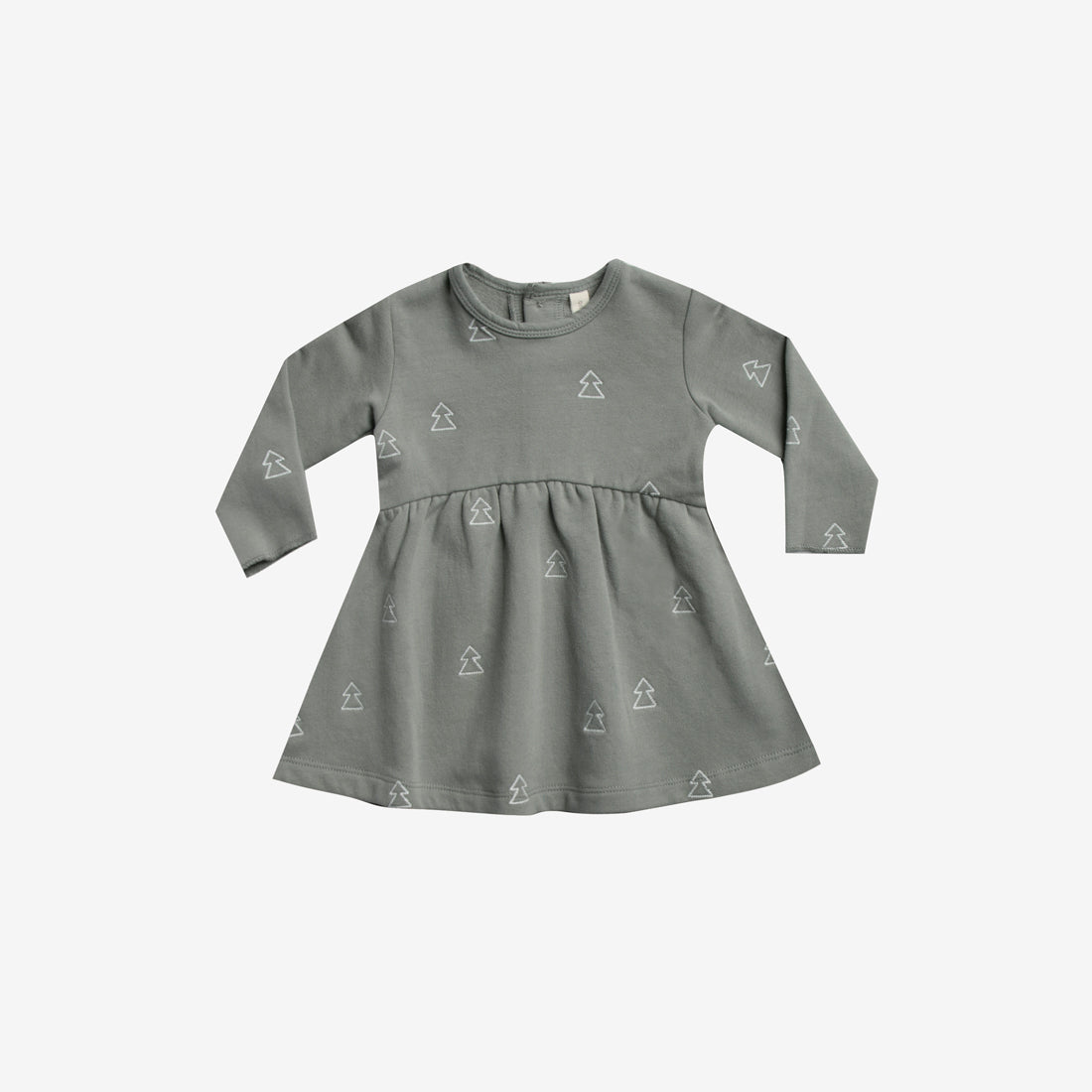 Embroidered Organic Fleece Dress - Eucalyptus Trees