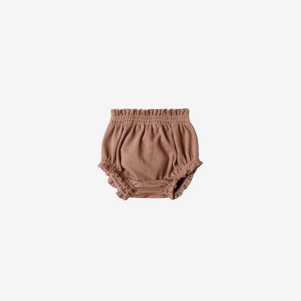 Organic Brushed Jersey Bloomer - Clay