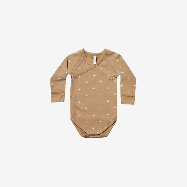 Organic Brushed Jersey Kimono Onesie - Honey Sunrise