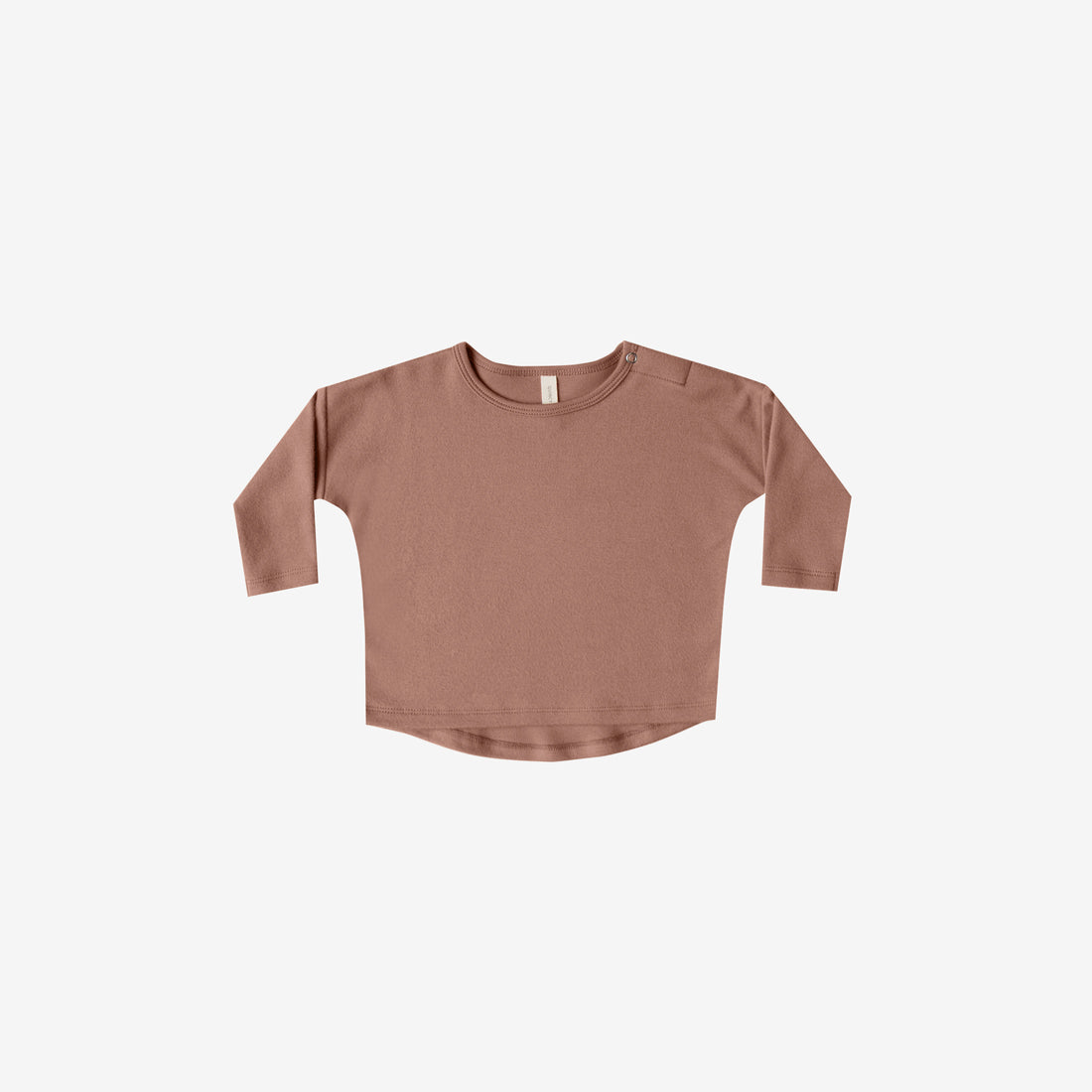 Organic Brushed Jersey L/S Baby Tee - Clay