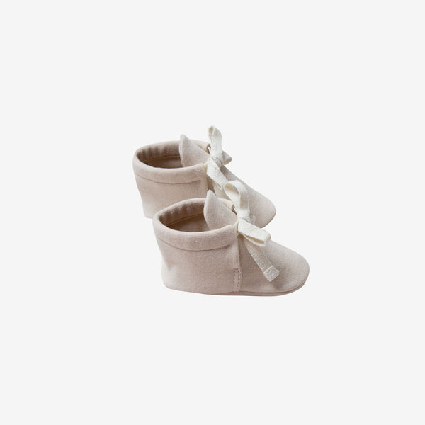 Organic Brushed Jersey Baby Boots - Bone