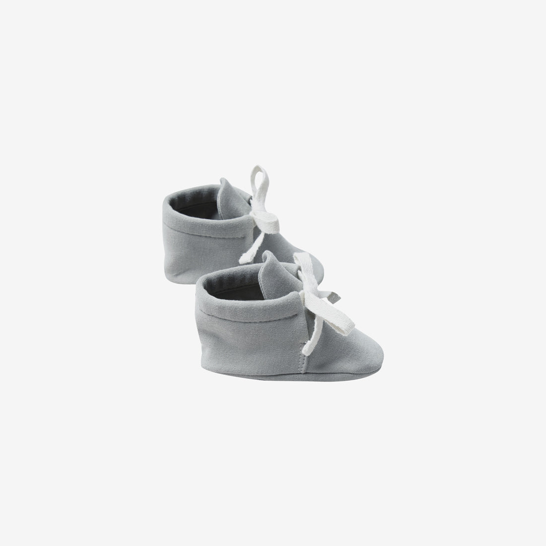 Organic Brushed Jersey Baby Boots - Dusty Blue