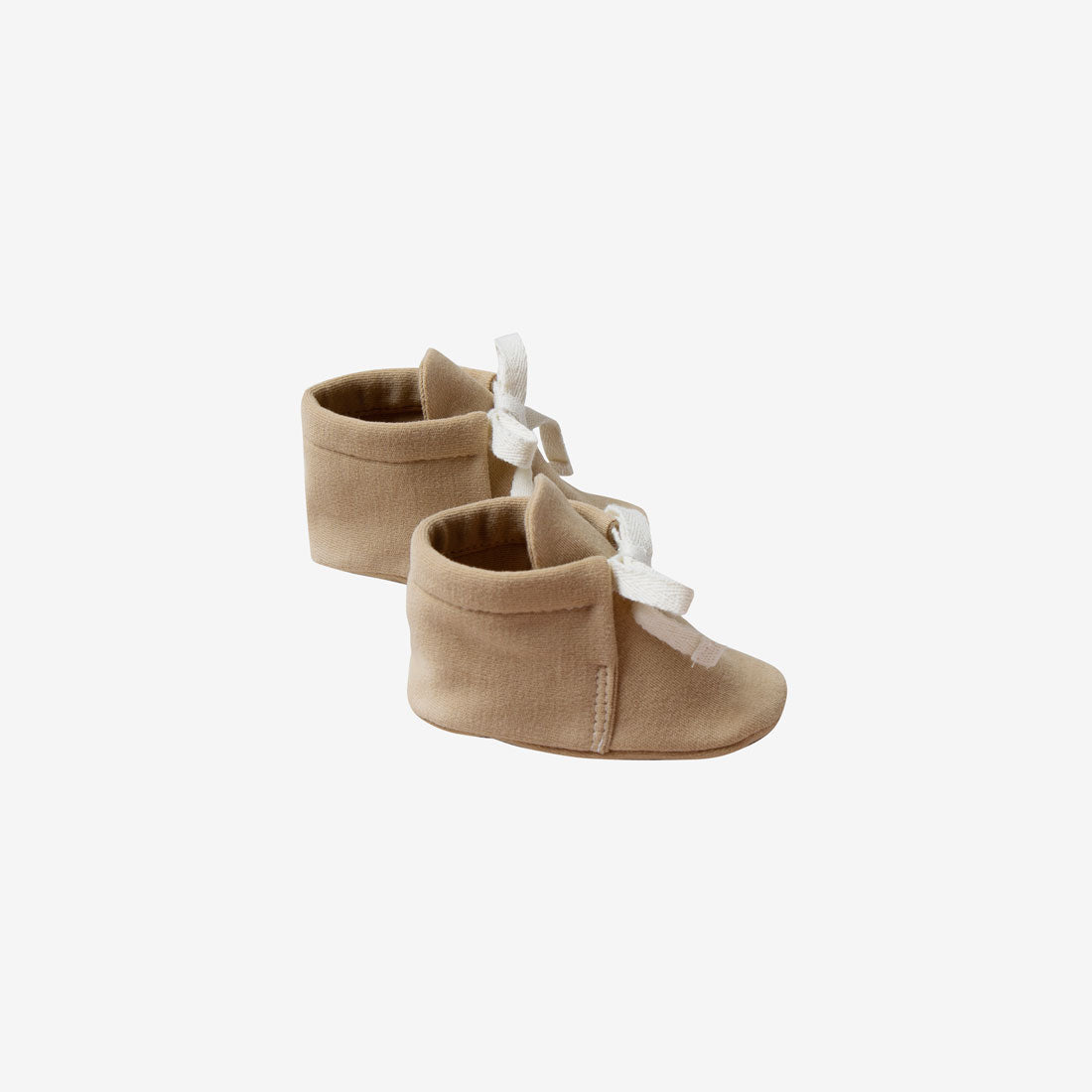 Organic Brushed Jersey Baby Boots - Honey