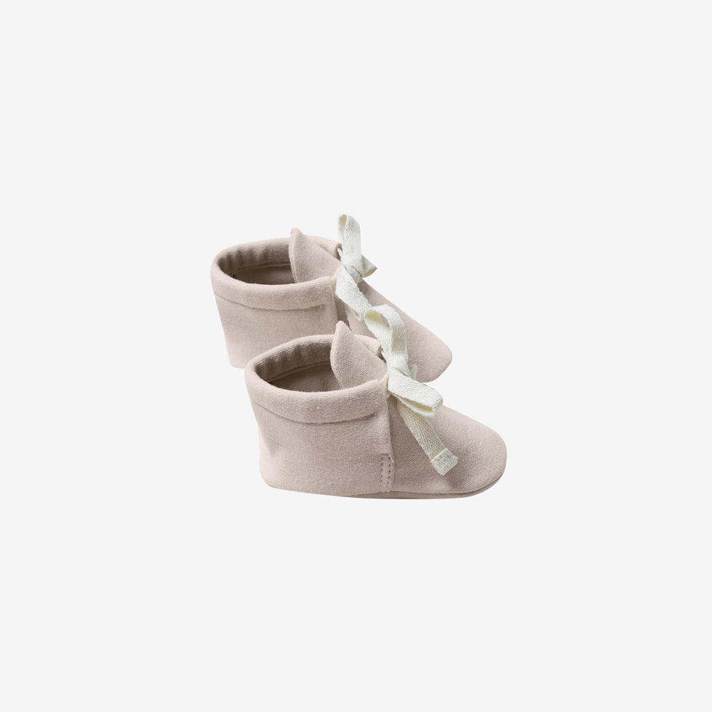 Organic Brushed Jersey Baby Boots - Rose