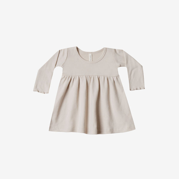 Organic Brushed Jersey Baby Dress - Bone