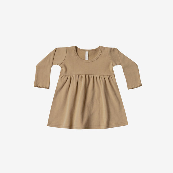 Organic Brushed Jersey Baby Dress - Honey