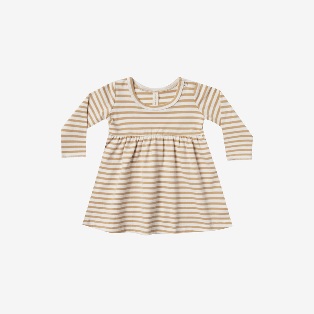 Organic Brushed Jersey Baby Dress - Honey Stripe