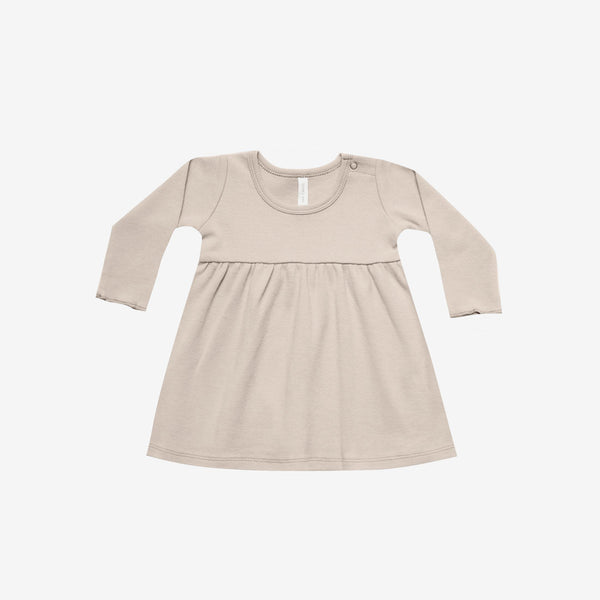 Organic Brushed Jersey Baby Dress - Rose