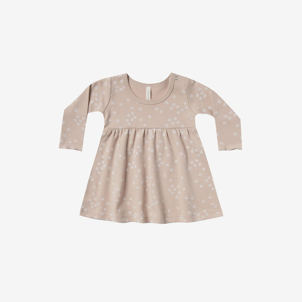Organic Brushed Jersey Baby Dress - Rose Floral