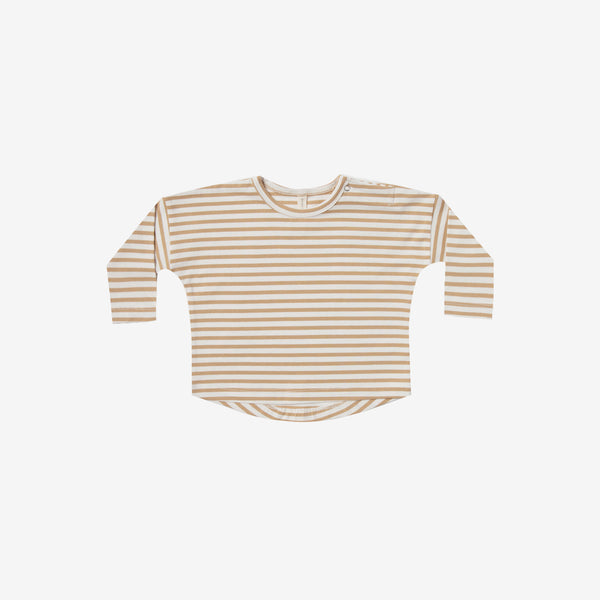Organic Brushed Jersey Baby Tee - Honey Stripe