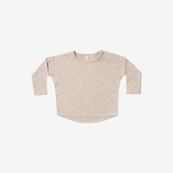Organic Brushed Jersey Baby Tee - Rose Floral