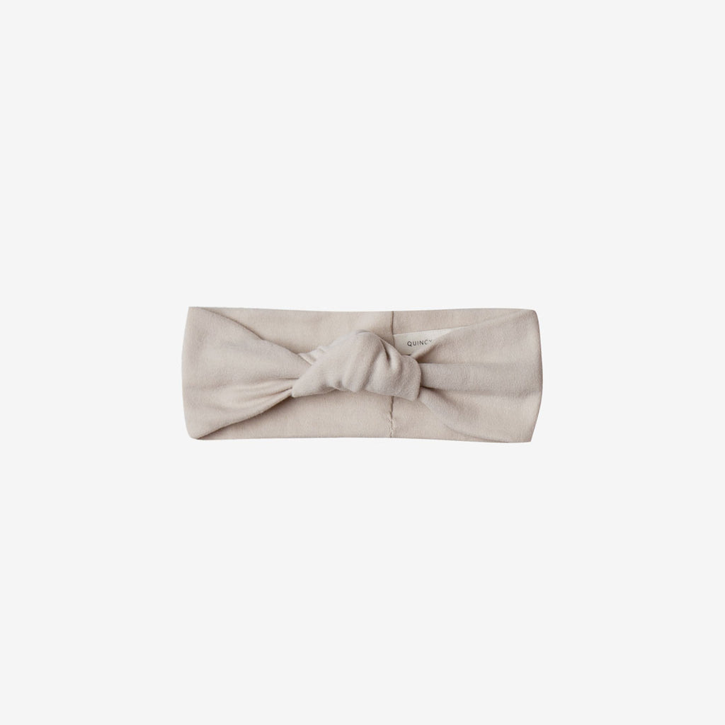 Organic Brushed Jersey Baby Turban - Bone