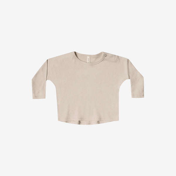 Organic Brushed Jersey Boxy Tee - Rose