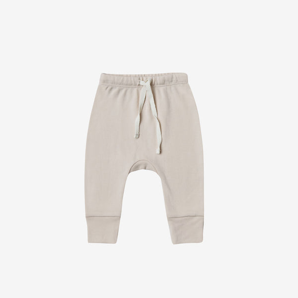 Organic Brushed Jersey Drawstring Pant - Bone