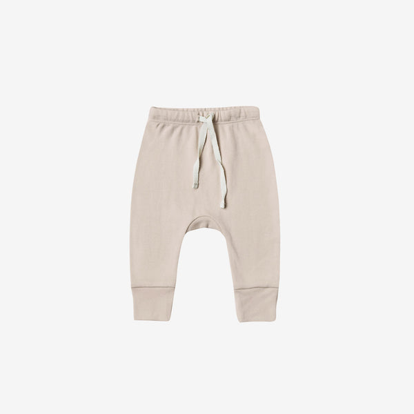 Organic Brushed Jersey Drawstring Pant - Rose