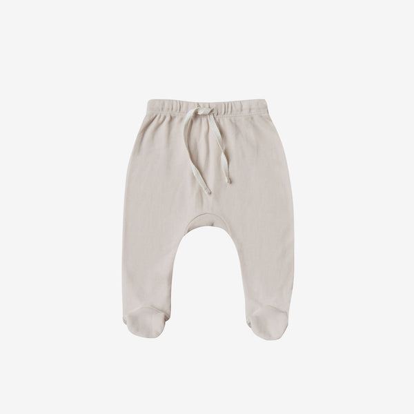 Organic Brushed Jersey Footed Pant - Bone