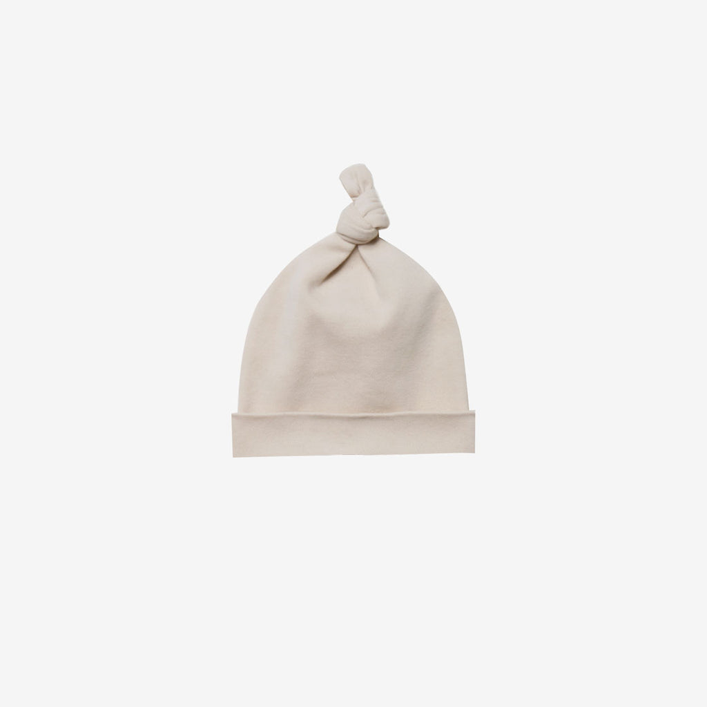Organic Brushed Jersey Knotted Baby Hat - Rose