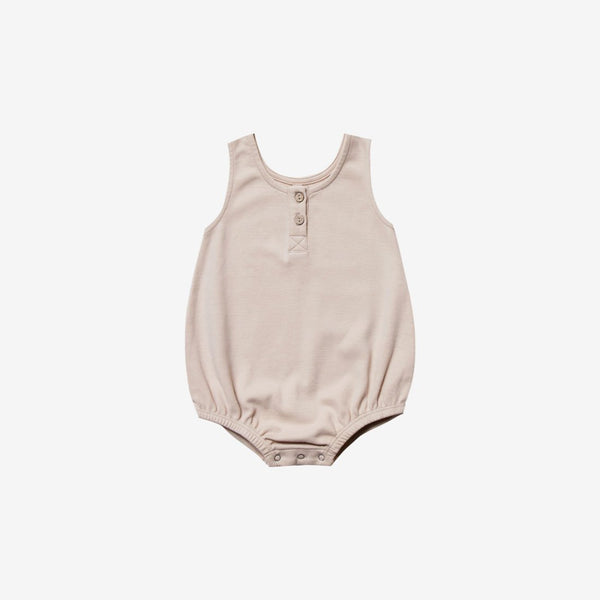 Organic Brushed Jersey S/L Bubble Onesie - Rose