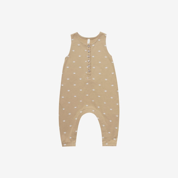 Organic Brushed Jersey S/L Jumpsuit - Honey Sunrise