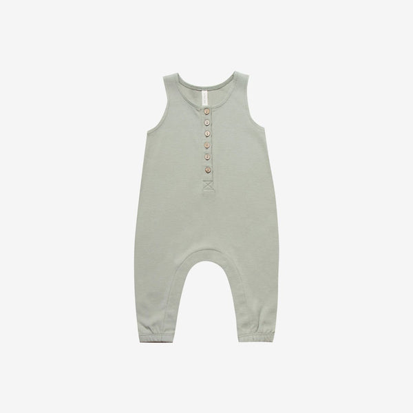 Organic Brushed Jersey S/L Jumpsuit - Sage
