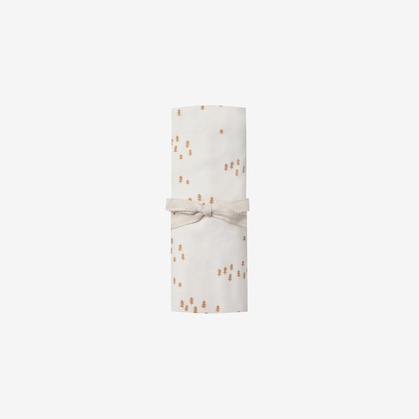 Organic Brushed Jersey Swaddle - Ivory Trees