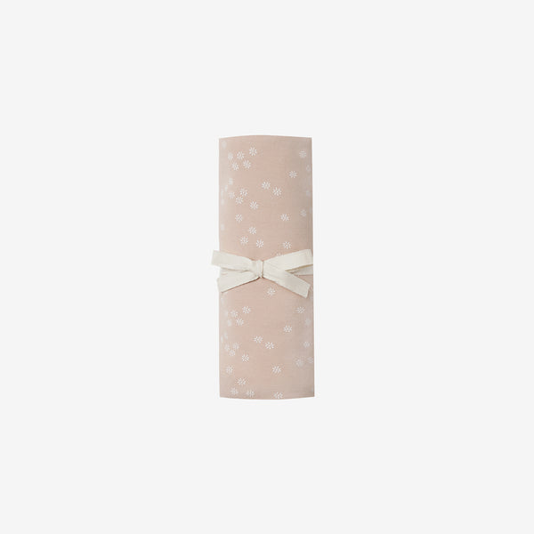 Organic Brushed Jersey Swaddle - Rose Floral