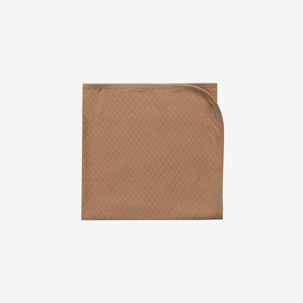 Organic Pointelle Baby Blanket - Copper