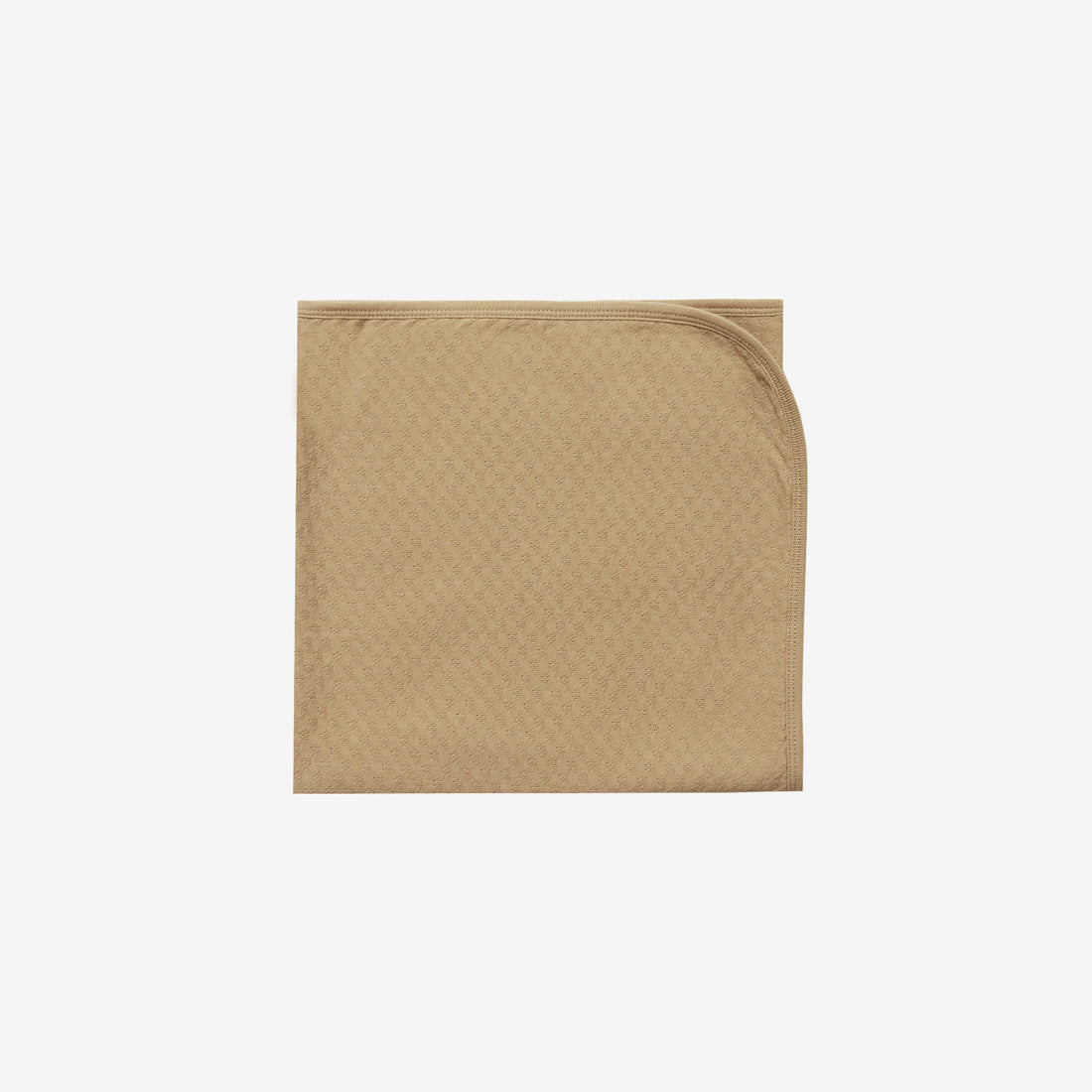 Organic Pointelle Baby Blanket - Honey