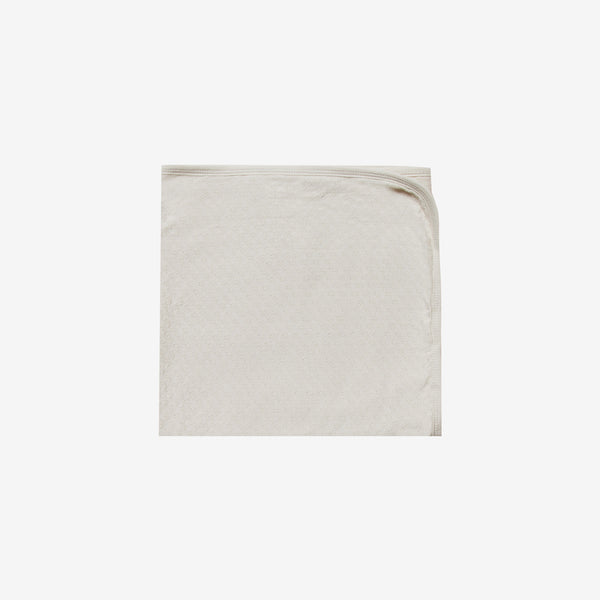 Organic Pointelle Baby Blanket - Pebble