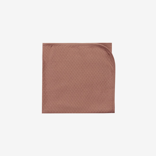 Organic Pointelle Baby Blanket - Clay