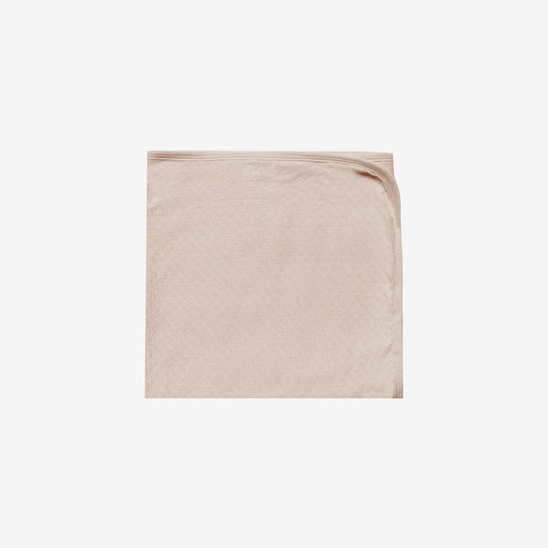 Organic Pointelle Baby Blanket - Rose