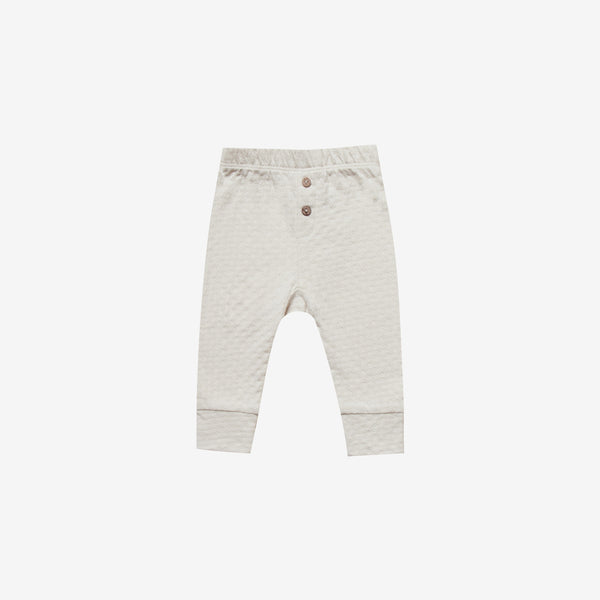 Organic Pointelle Baby Pant - Pebble