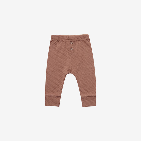 Organic Pointelle Baby Pant - Clay