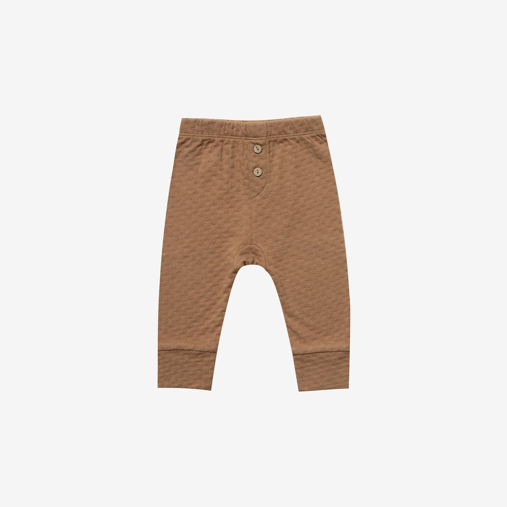 Organic Pointelle Baby Pant - Copper