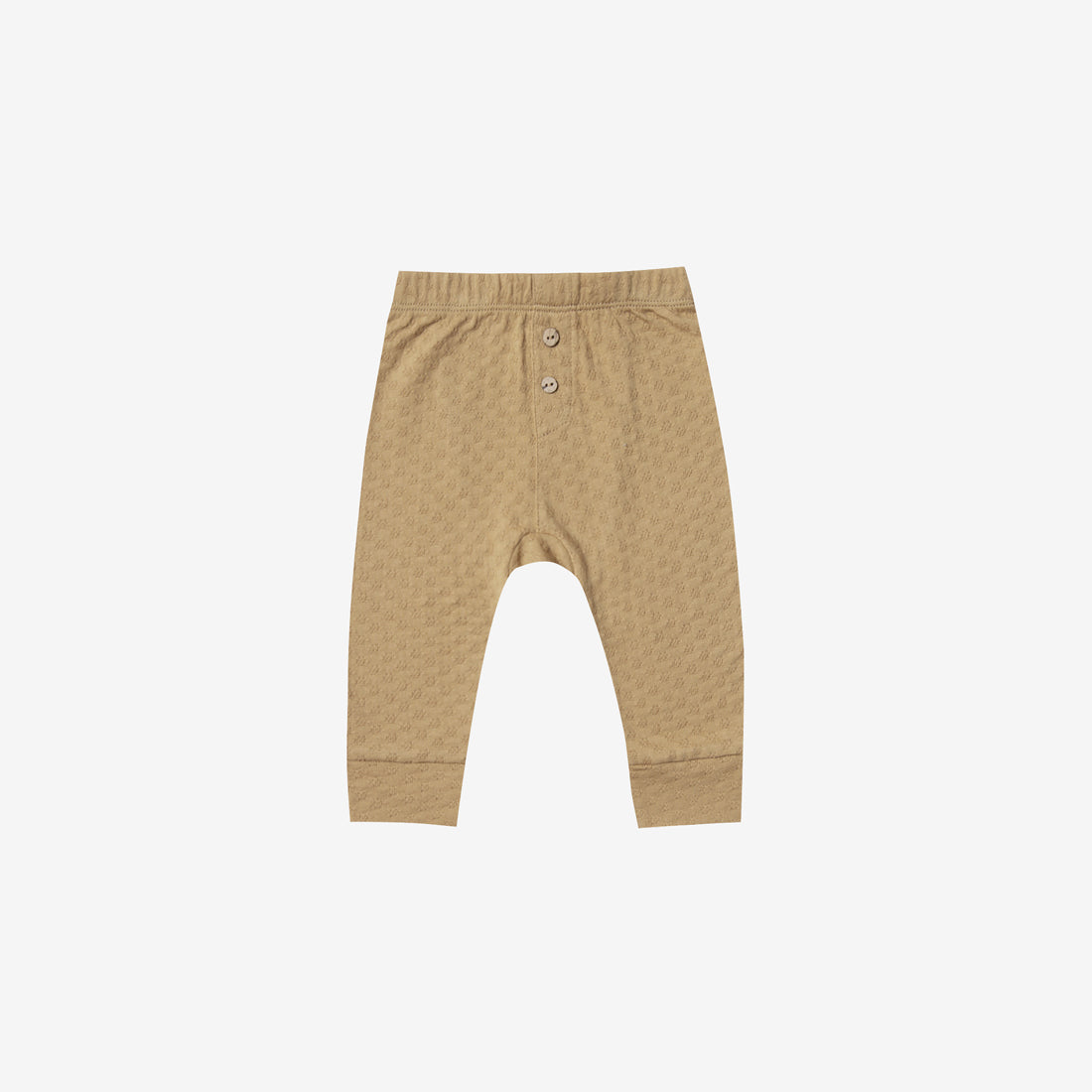 Organic Pointelle Baby Pant - Honey
