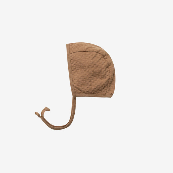 Organic Pointelle Bonnet - Copper