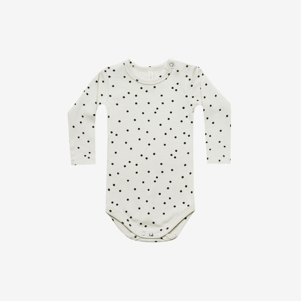 Organic Rib L/S Onesie - Pebble Dot