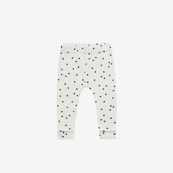 Organic Ribbed Baby Legging - Pebble Dot