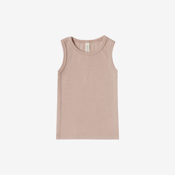 Organic Ribbed Baby Tank - Rose