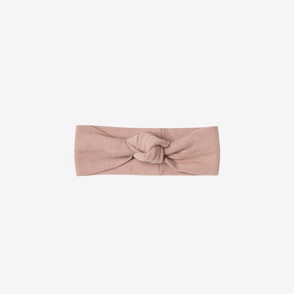 Organic Ribbed Baby Turban - Rose