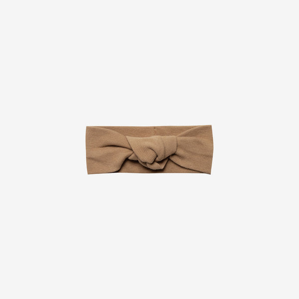 Organic Ribbed Baby Turban - Copper
