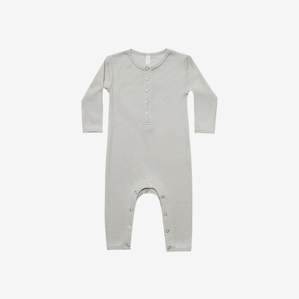 Organic Ribbed Jumpsuit - Ash