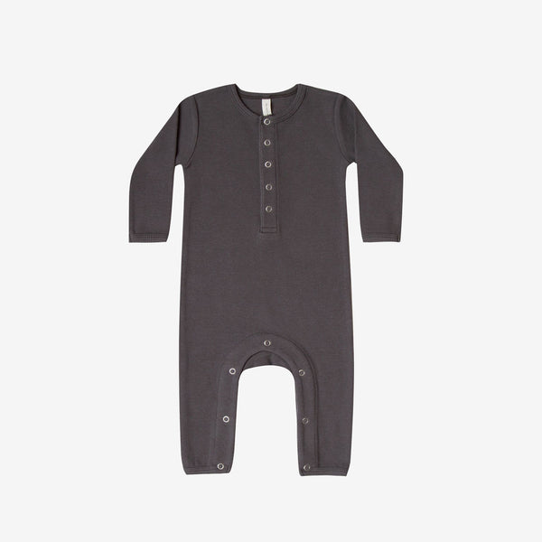 Organic Ribbed Jumpsuit - Coal