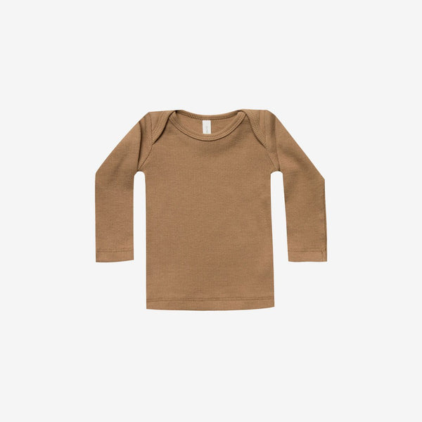 Organic Ribbed L/S Lap Tee - Copper
