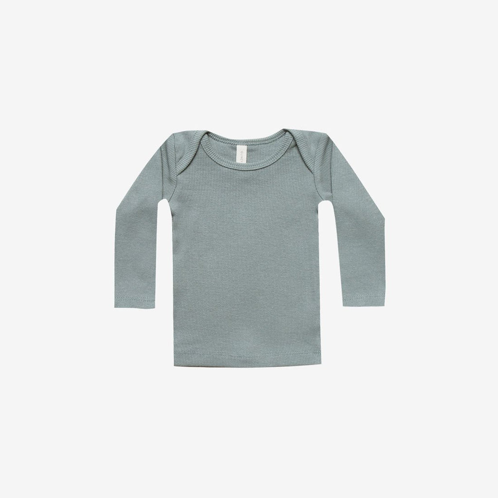 Organic Ribbed L/S Lap Tee - Sea